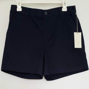 A New Day Navy Blue Chino Shorts Stretch Sz6-NWT!